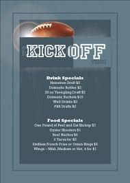 football table tent sports bar menus