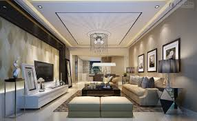 interior design singular living area wall andalse ceiling color