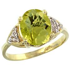 quartz engagement ring 14k yellow gold lemon quartz engagement ring oval