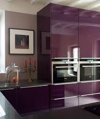 cuisine grise et aubergine confortable cuisine aubergine et gris cuisine couleur aubergine