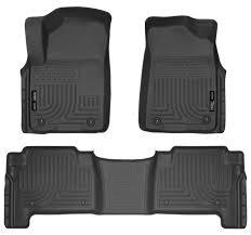 infiniti qx56 black husky liners weatherbeater floor mats black fits 2015 2016 2017