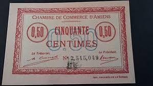 chambre des commerces amiens billet chambre de commerce amiens 50 centimes 1920 neuf ebay