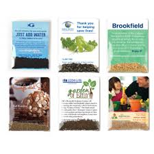 personalized seed packets personalized vegetable herb seed packets usa made recycled