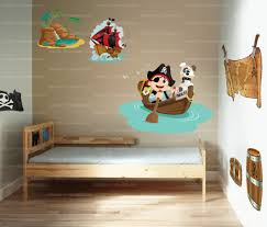 deco pirate chambre stickers carte au trésor de pirate vente sticker déco pour