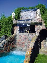swimming pool backyard pool landscaping ideas waterfall features