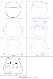 how to draw hamster from we bare bears printable step by step