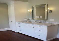 Bathroom Vanity With Linen Tower Delightful Bathroom Vanity With Linen Tower Custom Vanity With