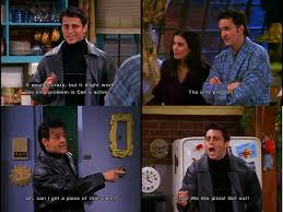 Joey Friends Meme - joey corrects his fake twin on his tastes in food on friends