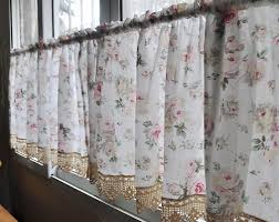 french country floral rose cafe kitchen curtain 007 french