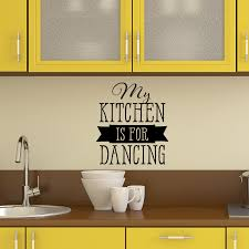quote decals for glass my kitchen is for dancing wall quotes decal wallquotes com