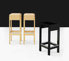 contemporary bar stool oak birch upholstered rapport by