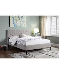 Headboard For Platform Bed Spectacular Deal On Home Premiere Classics Cloth Light Grey