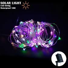 solar power led lights 100 bulb string solar string lights 10m 100 led copper wire string fairy lights