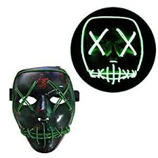 amazon com tinksky frightening halloween cosplay led mask light