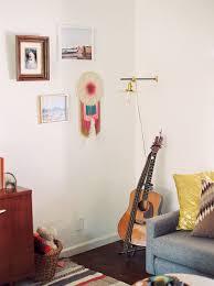 poff pad living room mid century modern meets boho u2014 hello mrs blog