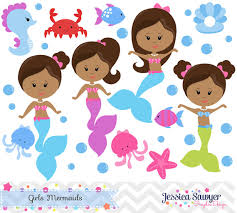 baby mermaid clipart free download color clipground