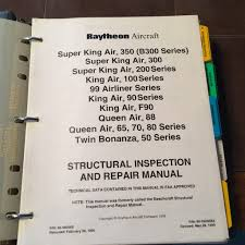 beechcraft structural inspection u0026 repair manual for king air