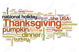 thanksgiving celebration issues and concepts word cloud