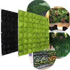 indoor wall garden 72 wall pockets hanging garden wall flower planter bag indoor