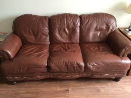 Brown Leather Sofa Dfs Dfs Mendez 3 2 Seater Brown Leather Sofas Excellent Condition