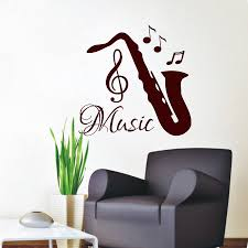 popular music notes decal buy cheap music notes decal lots from saxophone wall decals musical notes decal vinyl stickers music studio art china mainland