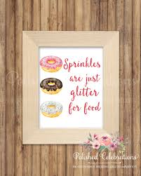 home decorating party companies sprinkles are just glitter for food printable print sign instant