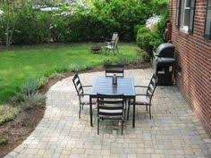 Inexpensive Backyard Patio Ideas 35 Tax For 16 Pavestone 12 X 12 And 40lb Bag Of Pebbles At