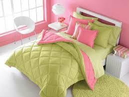 Pink And Green Bedroom - victoria classics solid reversible pink u0026 green comforter i