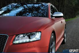 audi exclusive sighting audi rs 5 in matte red burgundy blogs