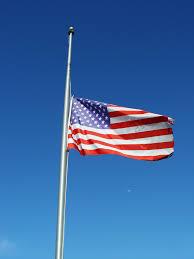 Flag Half Mass Today Happy Memorial Day