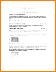 Resume Template Chronological Resume Traits Resume For Your Job Application