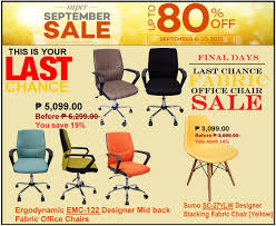 OFFICE FURNITURE SALE LAZADAS SUPER SEPTEMBER PROMO SAVE Up To - Discount designer chairs