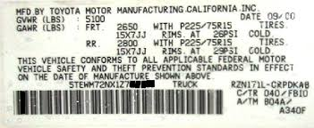 toyota camry vin decoder lc engineering differential tech