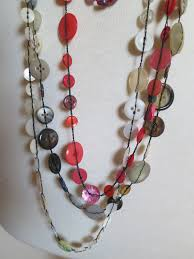 making necklace chain images Button necklaces louise wells jpg