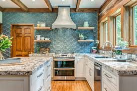 blue kitchen cabinets in cabin sophisticated rustic log cabin kitchen rustic kitchen