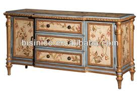 Antique Painted Sideboard Antique Hand Painted Sideboard Buffet Dining Room Cupboard Wooden