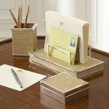 Silver Desk Accessories Maison Create A Chic Home Office