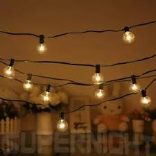 globe string lights indoor connectable 26 5ft g40 clear globe string lights set with 25 globe