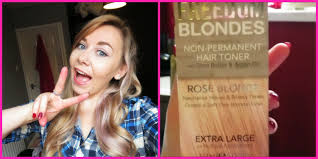 silver blonde color hair toner colour freedom rose blonde hair toner youtube