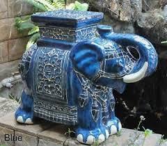 elephant end tables ceramic elephant stool ebay