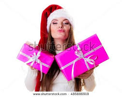 christmas winter happiness concept woman wearing stock photo