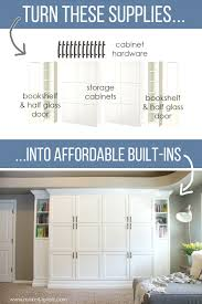 how to turn ikea bookshelves into custom built ins make it and