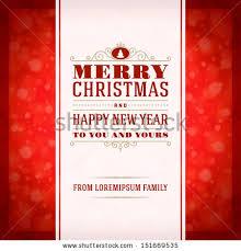 merry invitation card ornament decoration stock vector