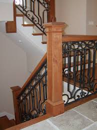 wood stair handrail decor references