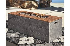 large fire pit table hatchlands fire pit table ashley furniture homestore