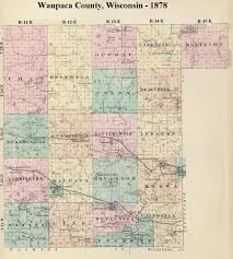 County Map Wisconsin by My Pinkerton Family Maps Waupaca Co Wisconsin