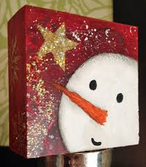 i love the colors and simplicity of this snowman christmas ideas