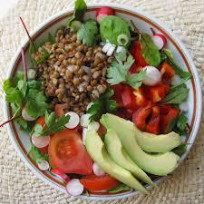 recette d駛euner au bureau salade composée lentillons et crudités déjeuner au bureau