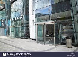 dealership usa tesla car dealership boston usa stock photo royalty free image