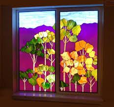 Basement Window Well Art by Beautiful Basement Stained Glass Windows